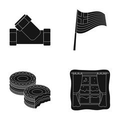 sleep, cooking and or web icon in black style.travel, plumbing icons in set collection.