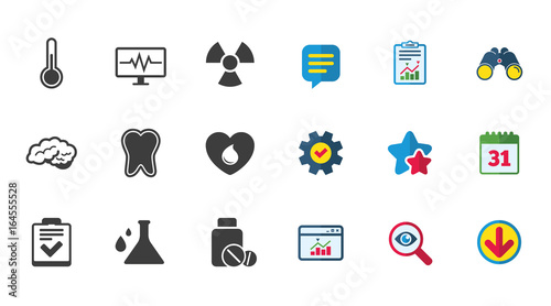 Medicine Medical Health And Diagnosis Icons Blood Donate