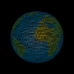 binary globe color