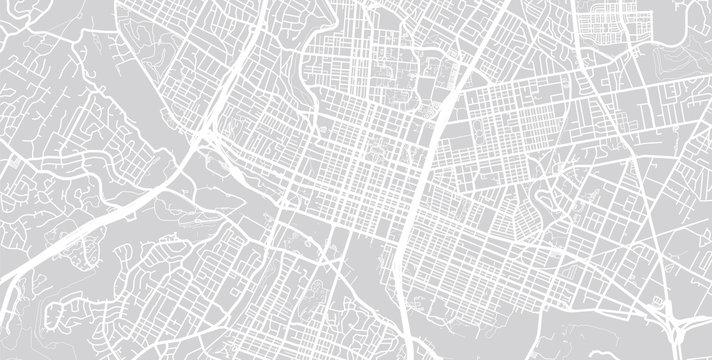 Vector city map of Austin, Texas.