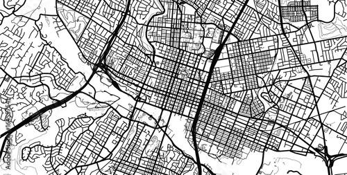 Vector city map of Austin, Texas. \