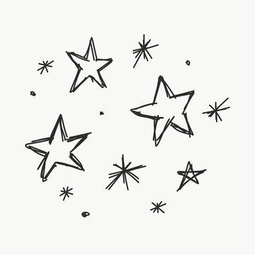 gezeichnete Sterne