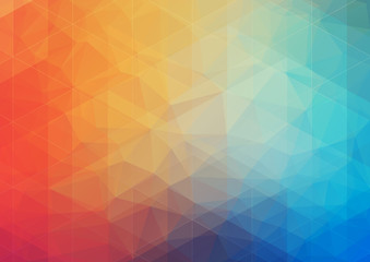 multicolored Abstract background with gradient triangle shapes