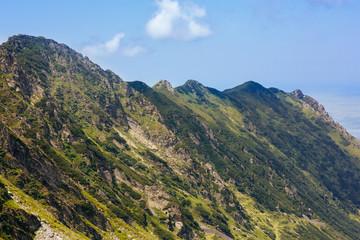 Mountain peaks, romania mountains fagaras landscape. Picturesque and gorgeous scene.