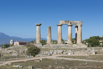 Temple of Apollo, Ancient Corinth, Greece, Europe