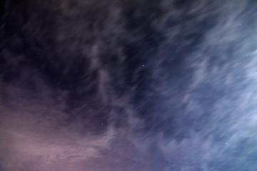 Night sky with stars space