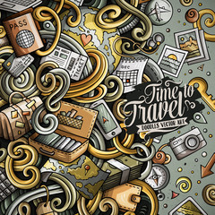 Cartoon cute doodles Travel frame design