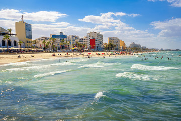 Urban beach in Sousse. Tunisia, North Africa
