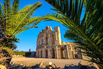 Keuken foto achterwand Tunesië El Djem Colosseum amphitheater. Tunisia, North Africa