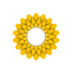 Yellow flower icon logo illustration