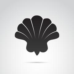 Shell vector icon.