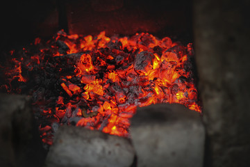 A beautiful heat from coals