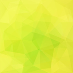 Background of yellow, green geometric shapes. Mosaic pattern. Vector EPS 10. Vector illustration