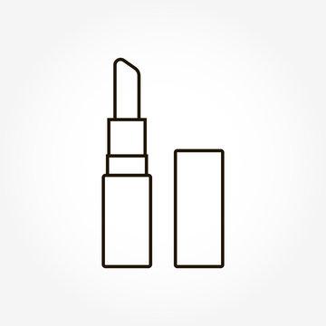 Vector image lipstick icon on white background