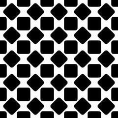 Repeating abstract black and white rounded square pattern background design - halftone geometric vector illustration