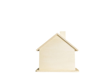 Miniature Wooden house isolate on white background