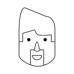 Man face cartoon