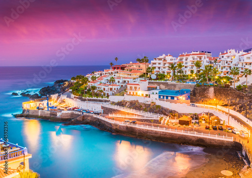 Wall mural Puerto de Santiago city,  Atlantic Ocean coast, Tenerife, Canary island, Spain