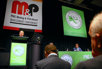 Peter O'Neill, the Prime Minister of Papua New Guinea, speaks during the opening of the PNG Mining and Petroleum Investment conference in Sydney, Australia