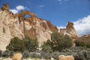 View of Grosvenor Arch Utah