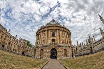 oxford radcliffe camera on cloudy sky