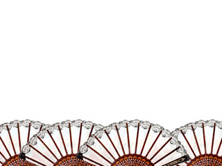 Hand Fan Abstract Frame Border Background