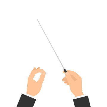 Orchestra conductor hand