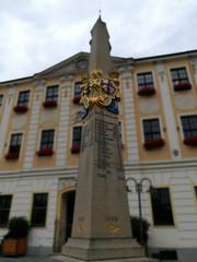 Distanzsäule am Radeberger Marktplatz