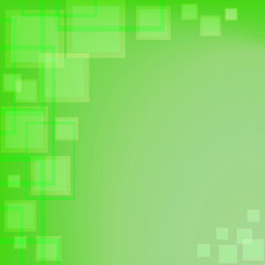 Abstract green squares background; computer background; presentation background; web background