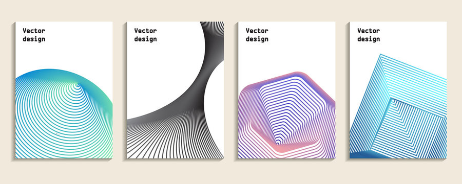 Minimal covers set. geometric design. Abstract 3d meshes.