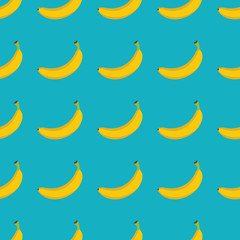 Banana vector seamless pattern. Cartoon fruit stylish texture. Repeating banana fruit seamless pattern background for friut design and web
