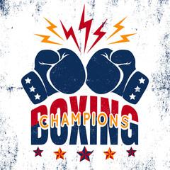 Sport logo for boxing