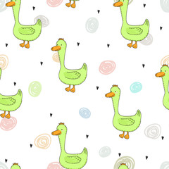 Cute duck Pattern print for kids. Printable templates