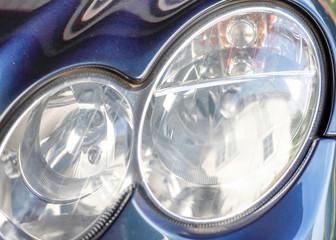 Autoscheinwerfer, rund, Detail