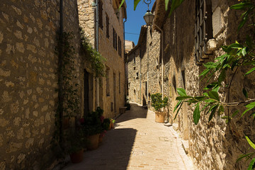 Wall Mural - Narrow street in the old village Tourrettes-sur-Loup in France.