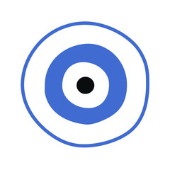 blue greek evil eye vector - symbol of protection