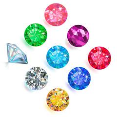Gemstone jewerly set