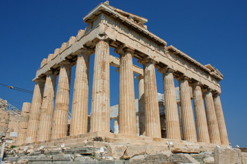 Foto op Canvas Athene Parthenon temple in Acropolis Hill in Athens, Greece.