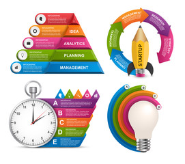 Collection infographics. Design elements. Infographics for business presentations or information banner.