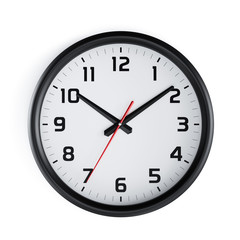 Cassic black and white round wall clock