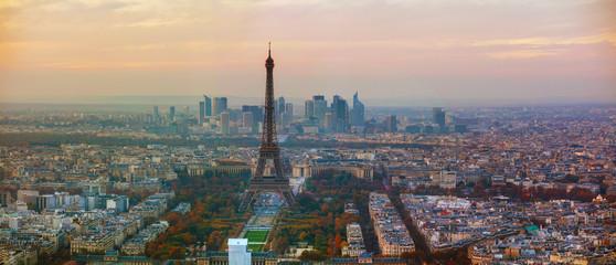 Aerial overview of Paris