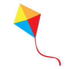 Isolated kite toy on a white background, Vector illustration