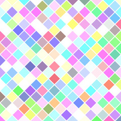 Colored abstract square pattern background - vector illustration from diagonal squares in light tones