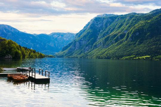 Beautiful Bohinj lake. Slovenia