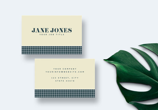 Classic Business Card Layout