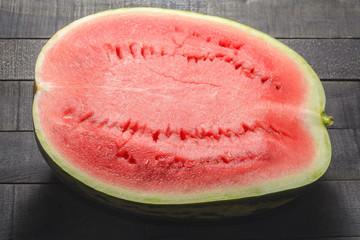 Half a watermelon top view