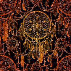 Boho chic seamless pattern