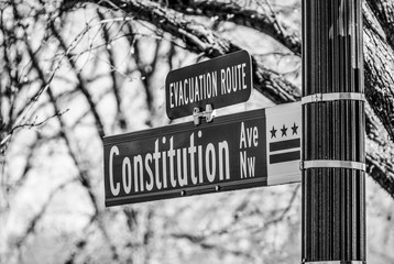 Constitution Avenue in Washington DC