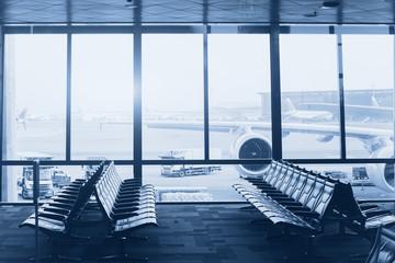 Photo sur Toile Aeroport modern airport interior