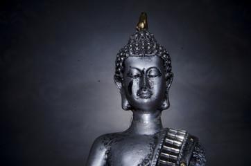 Buda con fondo oscuro